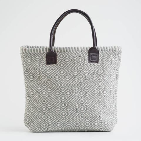 Navy Dove Grey Provence Bag from Weaver Green