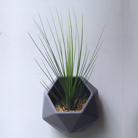 Geometric hegagon wall pot