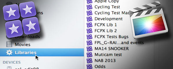 Finding Final Cut Pro X Libraries in the Finder with Smart