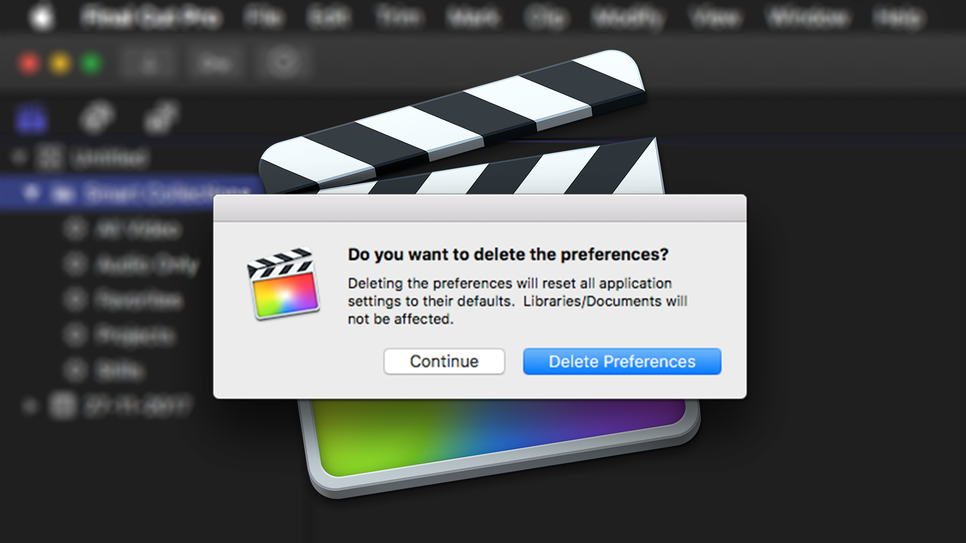 How to Trash Final Cut Pro X's Preferences