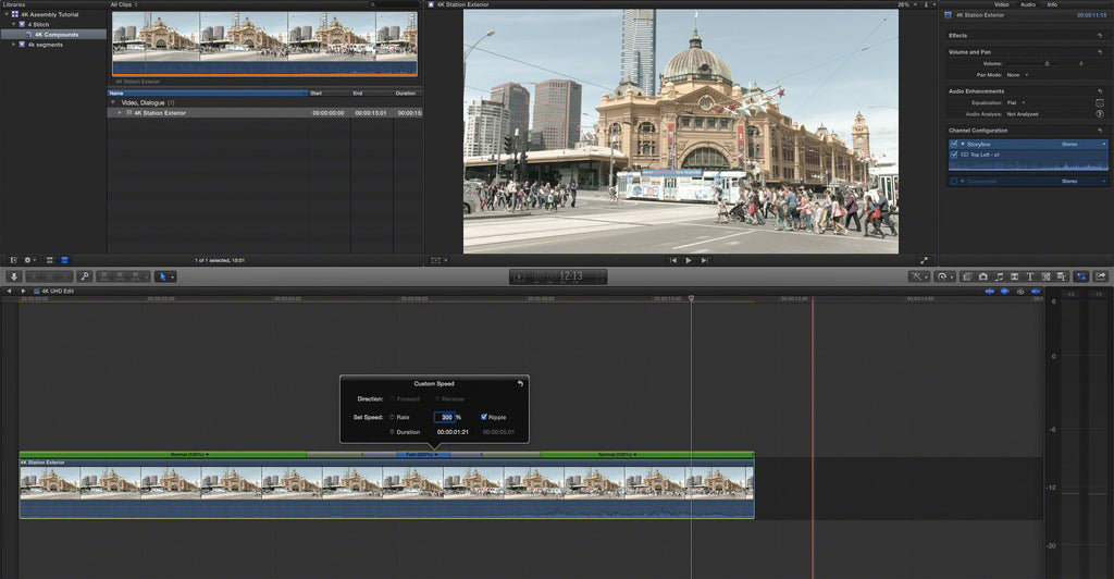 How to Combine Four 1080 Quadrant Videos Into 4K IN Final
