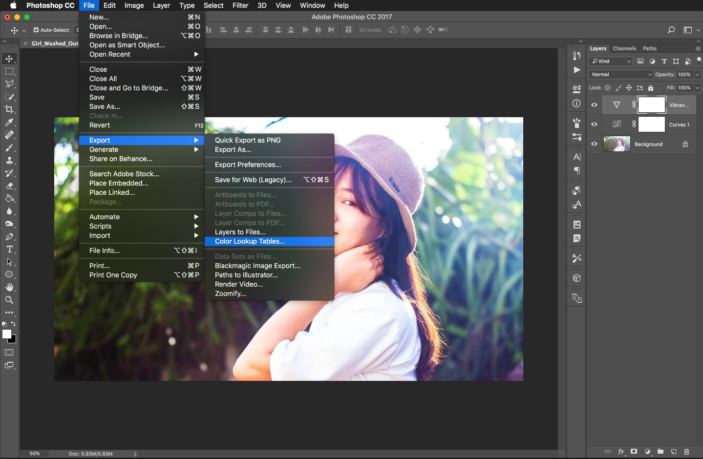 Export a LUT from Photoshop for use in Final Cut Pro X