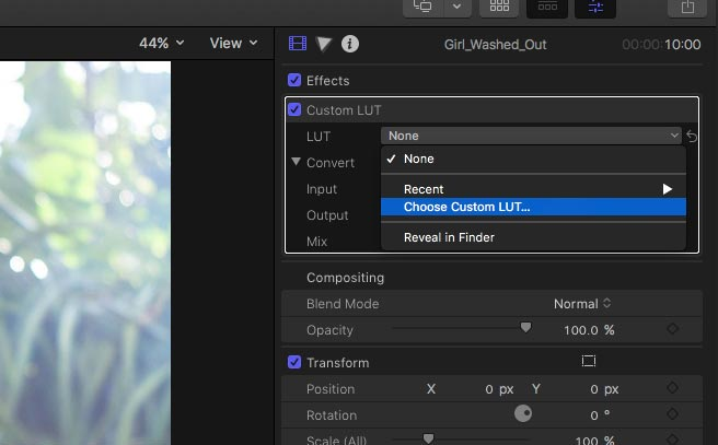 How to Make Custom LUTS For Final Cut Pro X 10 4 Color