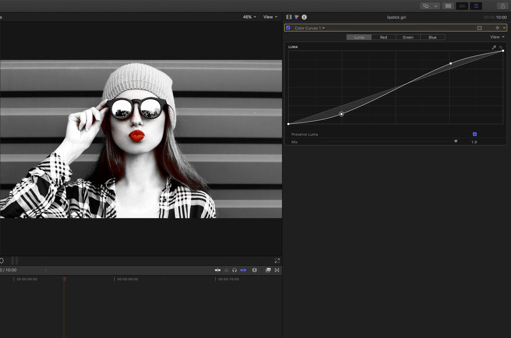 Grungy Sin City look in Final Cut Pro X