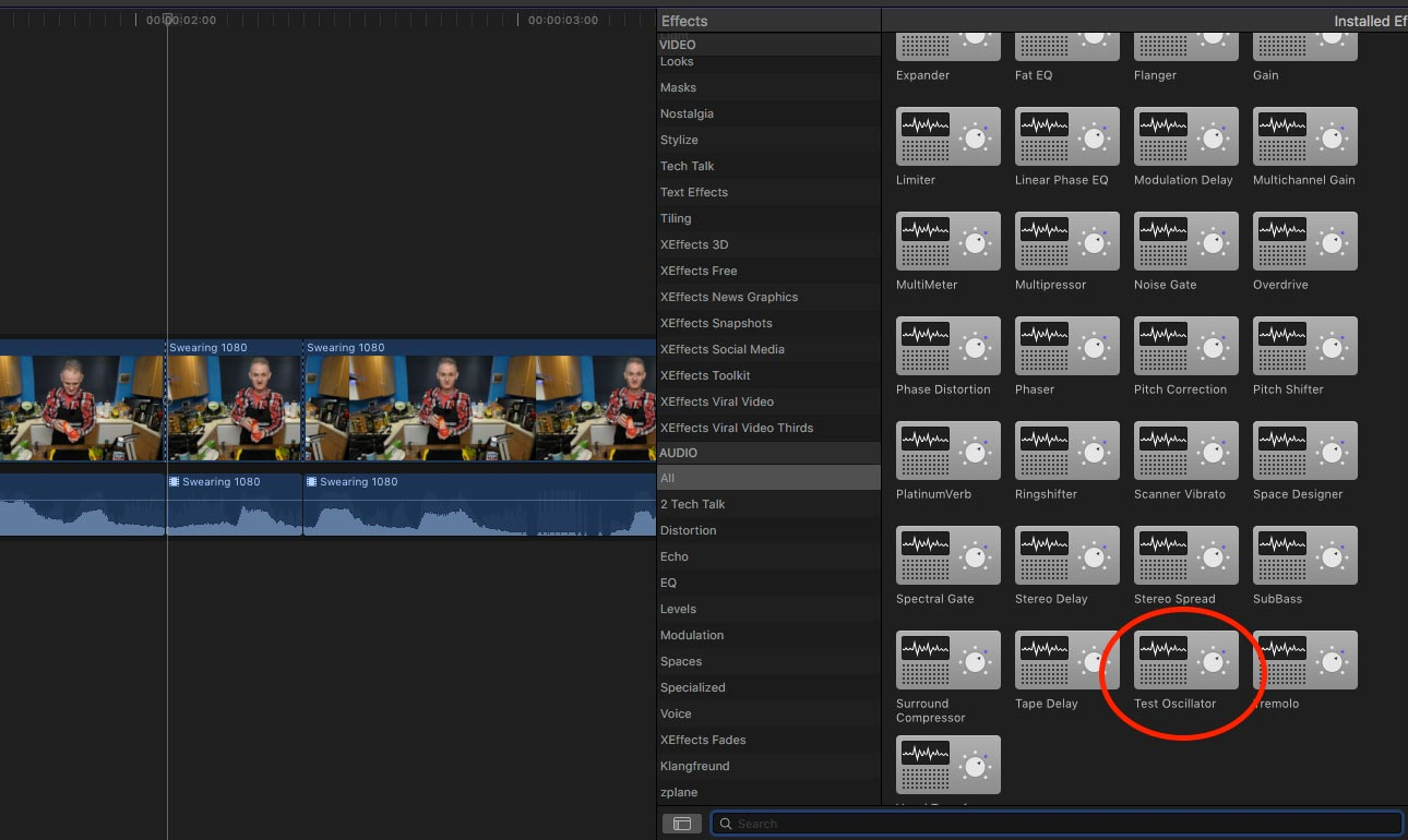 how to censor audio in final cut
