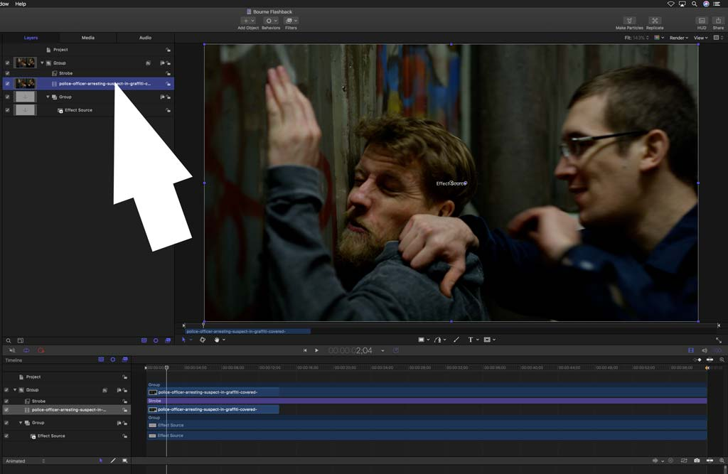 Add media to Motion project for FCPX plugin