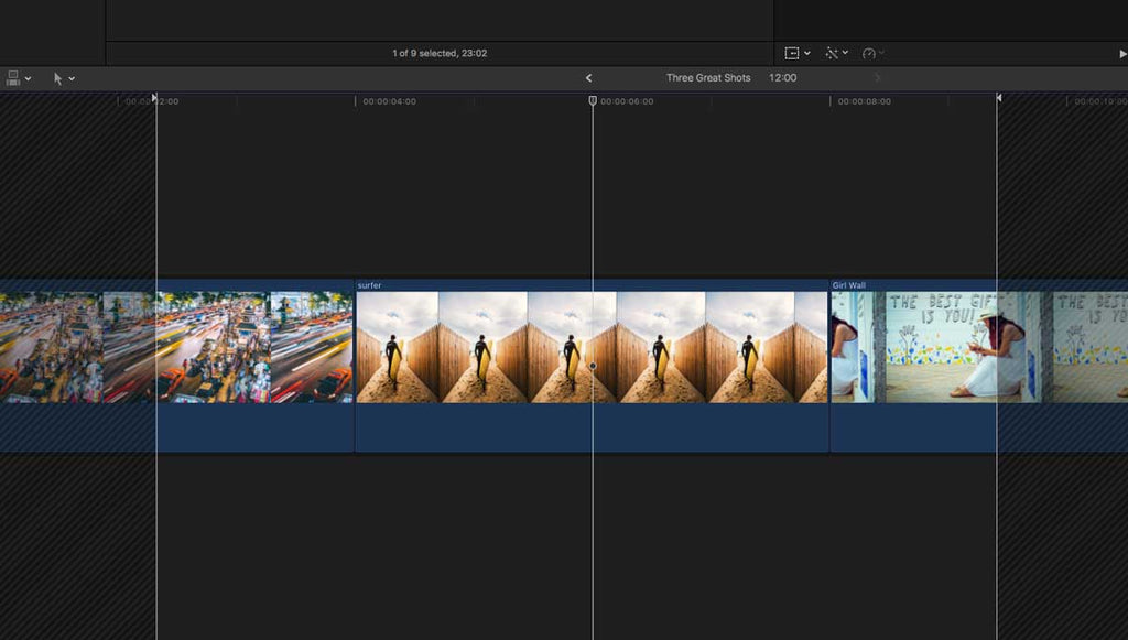 Editing in a compound clip in final cut pro x