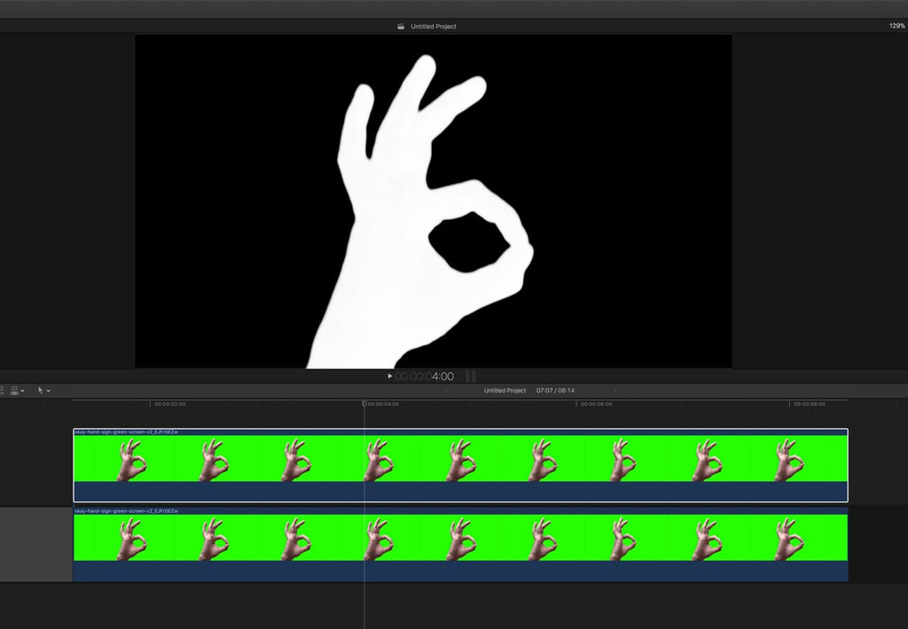 two clips of keys in Stacy's Mom tutorial for Final Cut Pro X