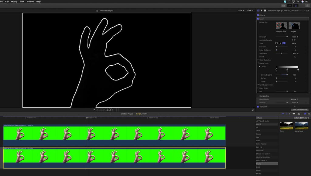Making an outline border in Final Cut pro X