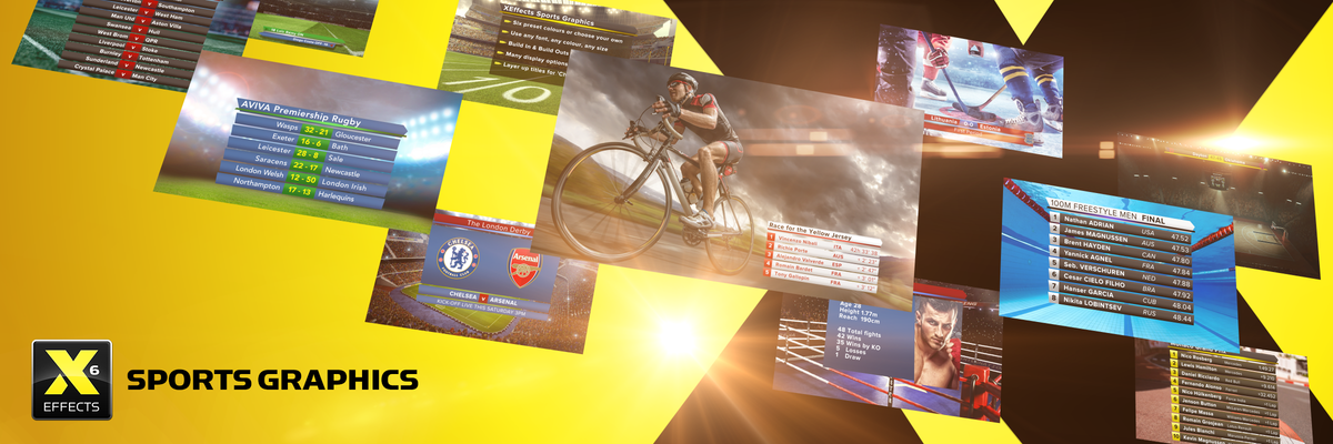 XEffects Sports Graphics Plugins & Templates for Final Cut Pro X FCPX