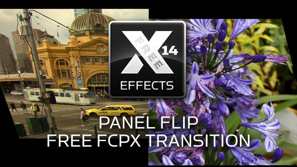 Free XEffects Panel Flip Transition Plugin for Final Cut Pro