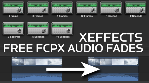 Free XEffects Audio Fades Plugin for Final Cut Pro X
