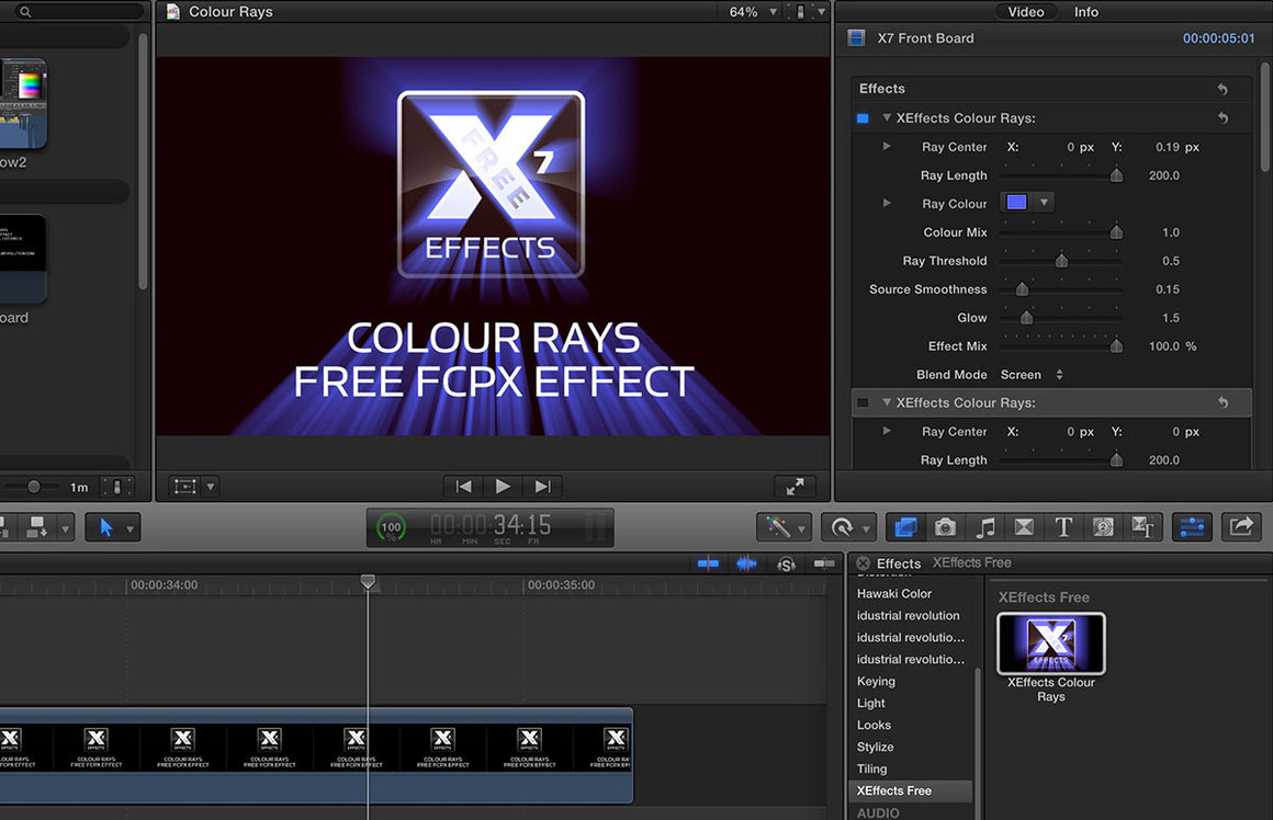 XEffects Colour Rays