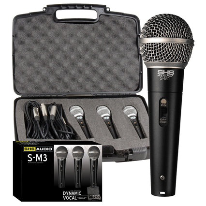 SHS 3 Microphone Package W/ Cables and Hardshell Case
