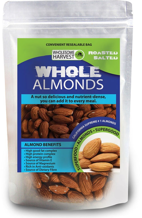 Almonds | Whole | Roasted & Salted