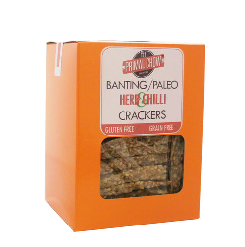 Banting/Paleo | Crackers | Herb & Chilli