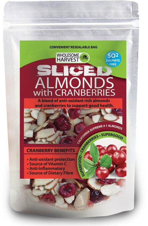 Almonds & Cranberries | Sliced | Raw