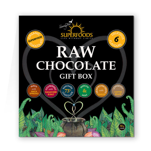 Chocolate | Raw | Gift Pack of 6 bars