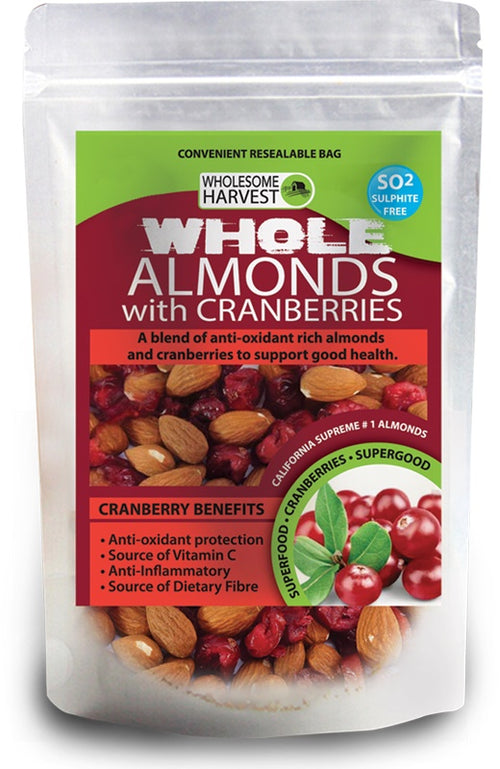 Almonds + Cranberries | Whole | Raw