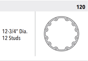 "HSE70 REPLACEMENT BACK GASKET 120, 12-3/4"" DIA, 12 STUDS"