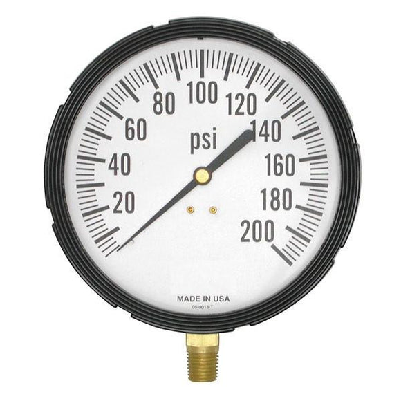 Gauge, Multipurpose, 0-200PSI Graduation Marks, 3 1/2
