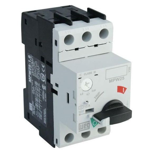 Electrical, Manual Motor Protector, 1.0-1.6A