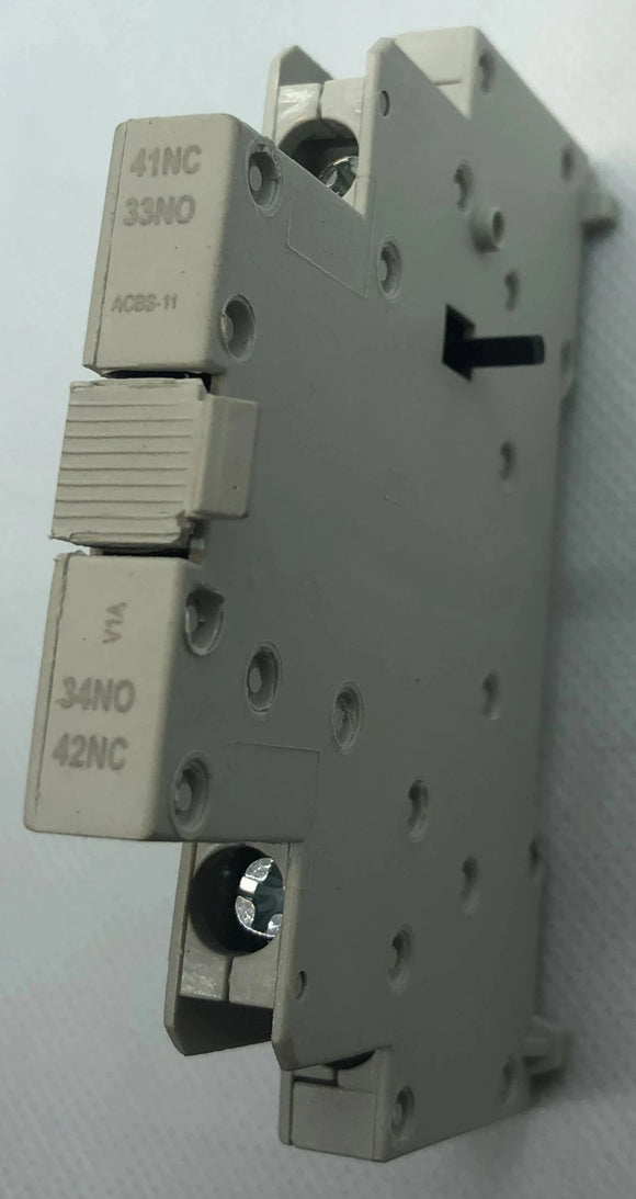 ELEC,AUX CONTACT BLOCK,1NO1NC,USE WITH MPW