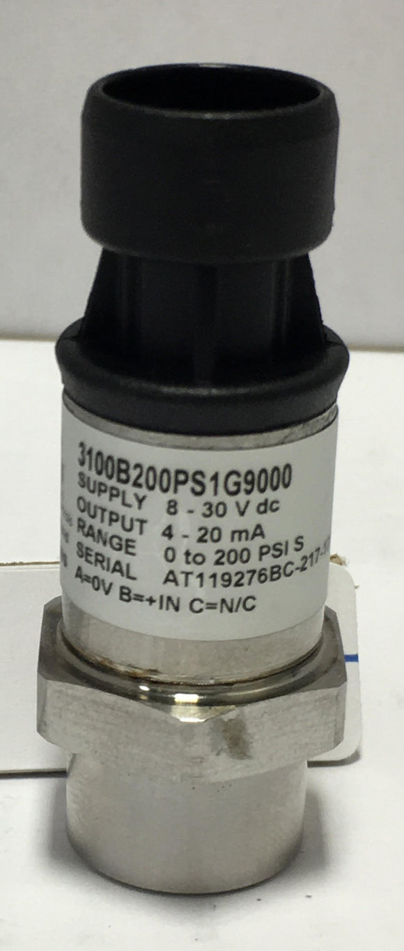 Sensor, Low Pressure, 0-200PSIG, 4-20mA, Stainless