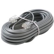 ELEC,TELEPHONE CABLE,COMMUNICATION,6 PINS RJ-11,CAREL,3.5 FT