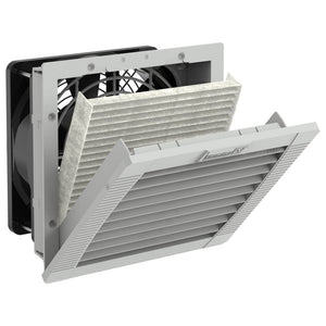 "Elec,Panel Fan Kit,28Cfm,115VAC,5.7""X5.7"",Black With Filter"