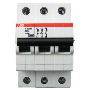 ABB Miniature Circuit Breaker, 3 Pole, 10Ka, For ABB 880 VFD 7.5Hp
