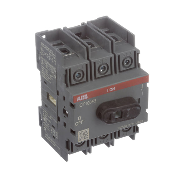 ELEC,DISCONNECT SWITCH,NON-FUSIBLE,100A,UL98,ABB OT100F3