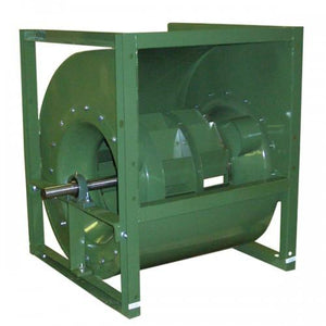 "BALANCED BLOWER TO ISO 1940 G2.5 LEVEL,BACKWARD INCLINED,15""DIA.,1-11/16"" SHAFT,PILLOW BLOCK BEARING,CLASS II,ARRENGMENT 3, UP BLAST DISCHARGE, STANDARD COATING,CCW"