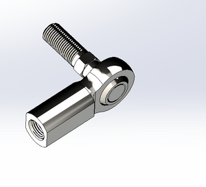 "BALL JOINT,RH,THREAD FEMALE SHANK W/ RH THREADED STUD,3/8""-24,STUD LENGHT 29/32"",THREAD DEPTH 13/16"",STEEL"