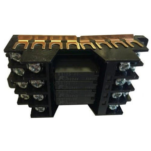 Relay, bank with 4 Relays, 5A, SPST, 24VDC Coil