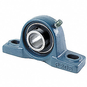 "Bearing, Ball, Pillow Block, Two Hole Mount, 1-3/16"", P206"