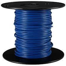 Wire, Blue, 18AWG, MTW, Tinned
