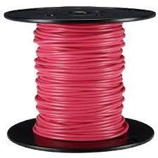 Wire, Red, 18AWG, MTW, Tinned