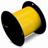 Wire, Yellow, 18AWG, MTW, Tinned