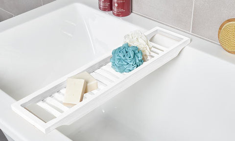 White Bath Caddy