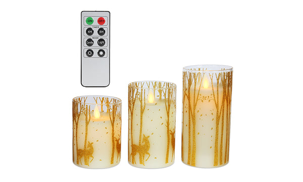 3 Pack Christmas LED Candles