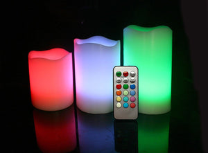 Vanilla Smooth Remote Control Colour Changing LED Flameless Mood Candles