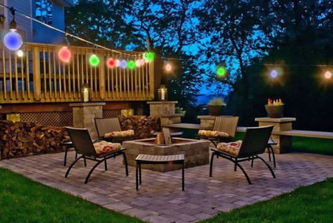 Solar Powered Retro Bulb Outdoor String Lights