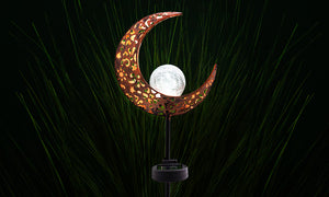 Half Moon Solar Stake Light