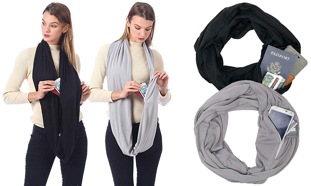 Travel Loop Scarf with Pockets