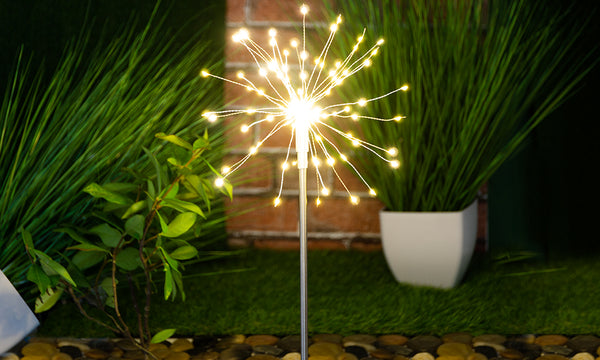 LED Starburst Firework Stake Light