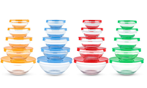 5pc or 10pc Glass Bowl Set