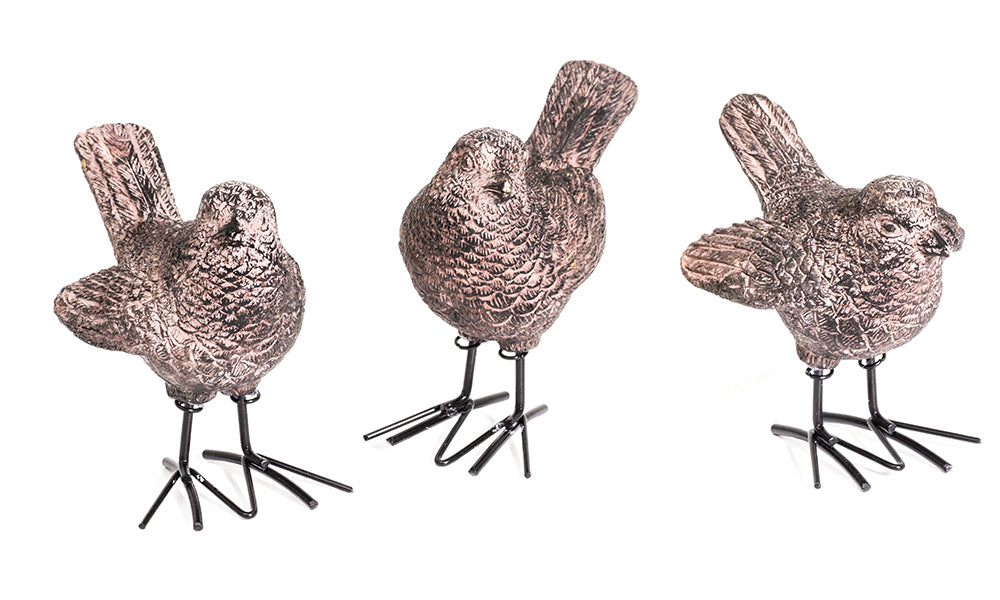 3pc Resin Bird