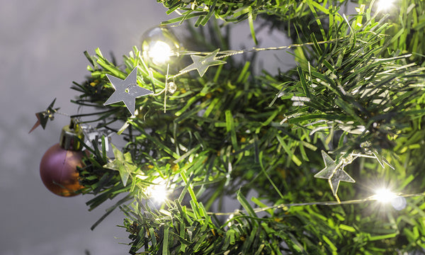 2M 20LED Bauble and Star Lights