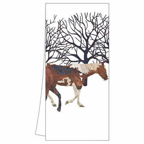 Cotton Kitchen Towels with Animal Images